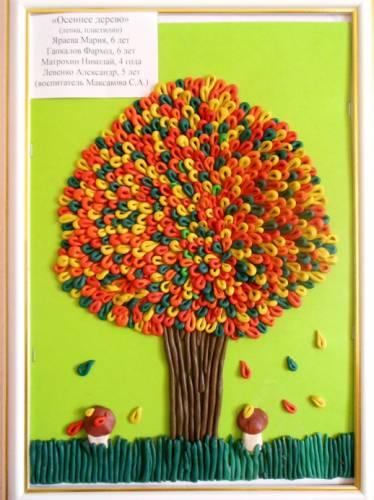 Как сделать дерево из пластилина объемное